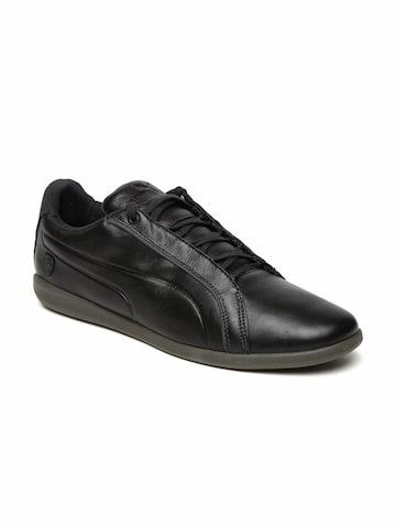 Puma Men Black SF Primo 2 Leather Sneakers at myntra