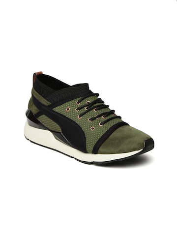 Puma Women Olive Green Pearl VR Sneakers at myntra