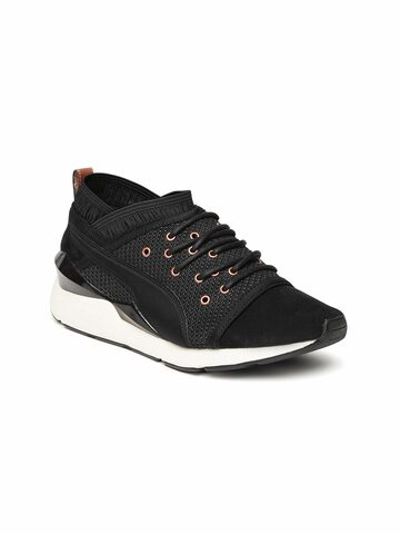 Puma Women Black Pearl VR Sneakers at myntra