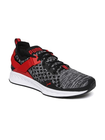 Puma Men Black IGNITE evoKNIT Lo Running Shoes at myntra