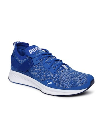 Puma Men Blue IGNITE evoKNIT Lo Running Shoes at myntra