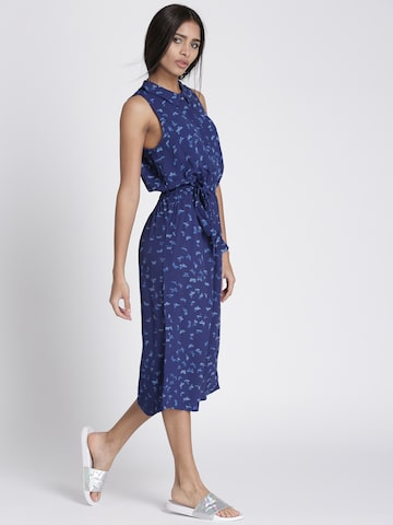 Chemistry Women Navy Blue Printed Maxi Dress Chemistry Dresses at myntra