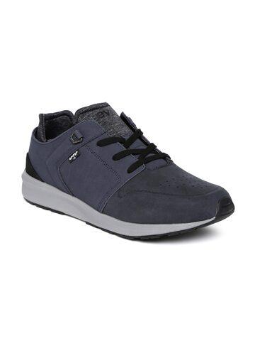 Levis Men Navy Suede Sneakers at myntra