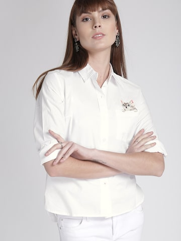 Chemistry Women White Solid Casual Shirt Chemistry Shirts at myntra