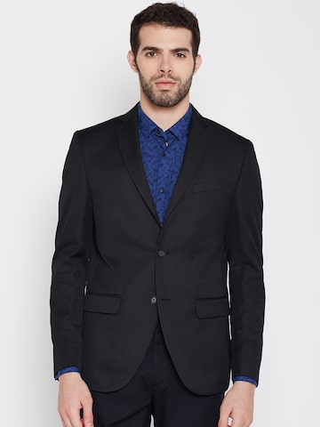Blackberrys Black Slim Fit Single-Breasted Casual Blazer at myntra