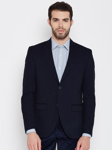 Blackberrys Charcoal Grey Single-Breasted Slim Fit Formal Blazer at myntra
