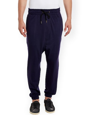 Hypernation Navy Jogger Track Pants at myntra
