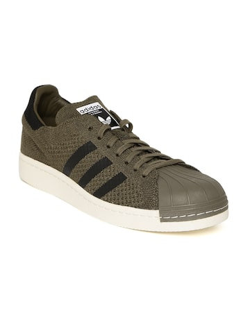 Adidas Originals Men Olive Green SUPERSTAR 80S PK Sneakers at myntra