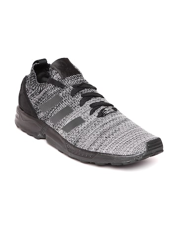 Adidas Originals Men Grey ZX FLUX PK Sneakers at myntra