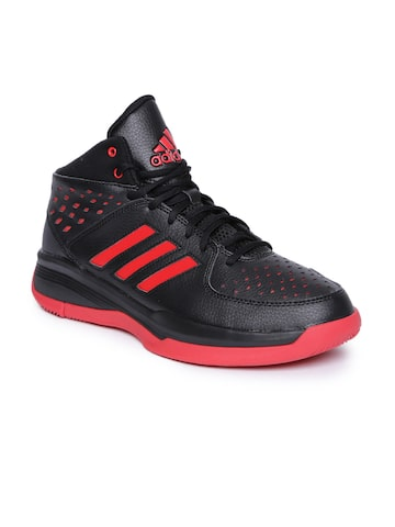 Adidas Men Black COURT FURY Mid-Top Basketball Shoes Adidas Sports Shoes at myntra