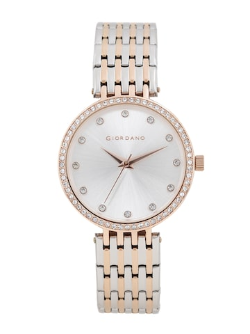GIORDANO Women Silver-Toned Analogue Watch A2045-66 GIORDANO Watches at myntra