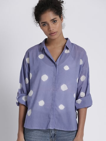 Chemistry Women Lavender Regular Fit Printed Casual Shirt Chemistry Shirts at myntra