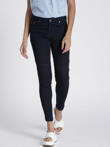 Chemistry Women Blue Regular Fit Solid Regular Trousers Chemistry Trousers at myntra