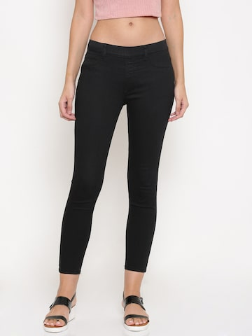 Jealous 21 Black Hottie Slim Fit Jeggings Jealous 21 Jeggings at myntra