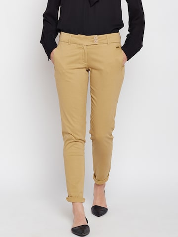 Park Avenue Women Beige Printed Tapered Fit Chinos Park Avenue Trousers at myntra