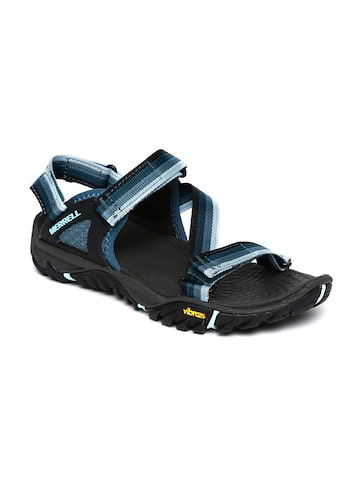 Merrell Women Blue & Black All Out Blaze Web Sports Sandals at myntra