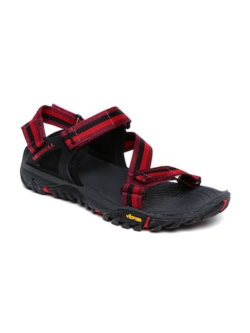 Merrell Women Red & Black All Out Blaze Web Sports Sandals at myntra