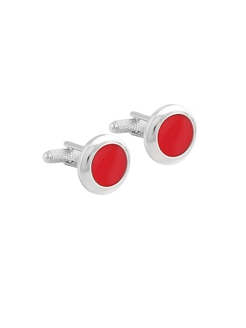 Alvaro Castgnino Men Red & Silver-Toned Cufflinks Alvaro Castagnino Cufflinks at myntra