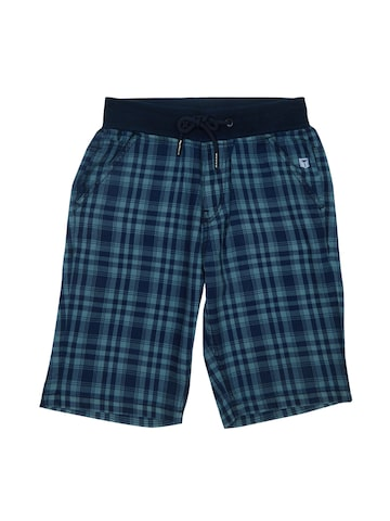Palm Tree Boys Blue Checked Regular Fit Shorts Palm Tree Shorts at myntra