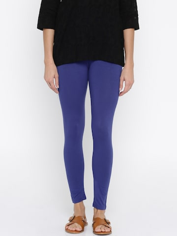 Global Desi Blue Leggings Global Desi Leggings at myntra