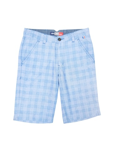 Gini and Jony Boys Blue Checked Regular Shorts Gini and Jony Shorts at myntra