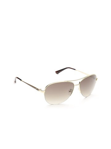 GUESS Unisex Oval Sunglasses 7468 32F GUESS Sunglasses at myntra