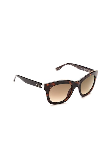 GUESS Women Square Sunglasses 7493 52F GUESS Sunglasses at myntra