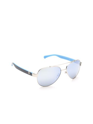 GUESS Unisex Mirrored Aviator Sunglasses 6893 10X GUESS Sunglasses at myntra