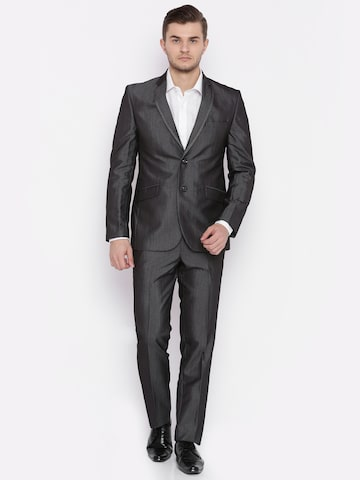 Raymond Charcoal Grey Contemporary Fit Single-Breasted Formal Suit Raymond Suits at myntra