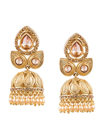 Sia Art Jewellery Gold-Plated Classic Jhumkas Sia Art Jewellery Earrings at myntra