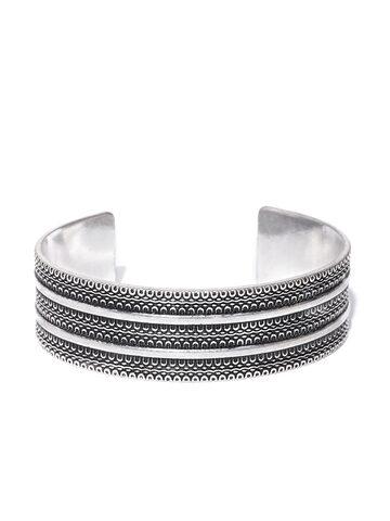 Accessorize Oxidised Silver-Toned Cuff Bracelet Accessorize Bracelet at myntra