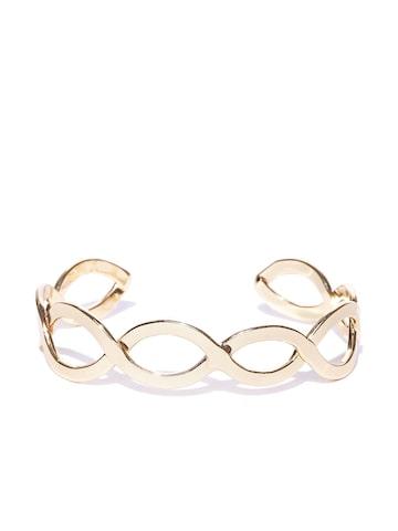 Accessorize Gold-Toned Cut-Out Cuff Bracelet Accessorize Bracelet at myntra