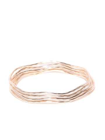 Accessorize Set of 5 Rose Gold-Toned Bangles Accessorize Bangle at myntra