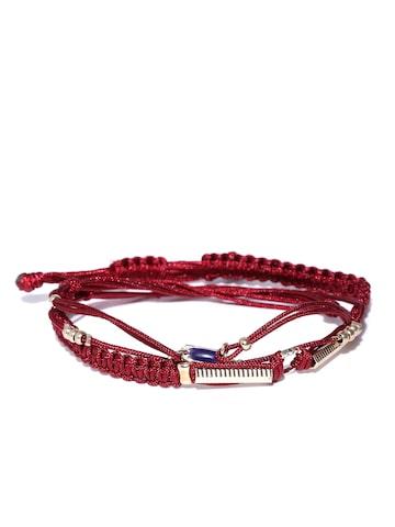 Accessorize Set of 3 Maroon Bracelets Accessorize Bracelet at myntra