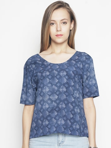 Voi Jeans Women Navy Blue Printed Top Voi Jeans Tops at myntra