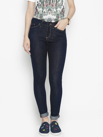 Voi Jeans Women Blue Regular Fit Mid-Rise Clean Look Stretchable Jeans Voi Jeans Jeans at myntra
