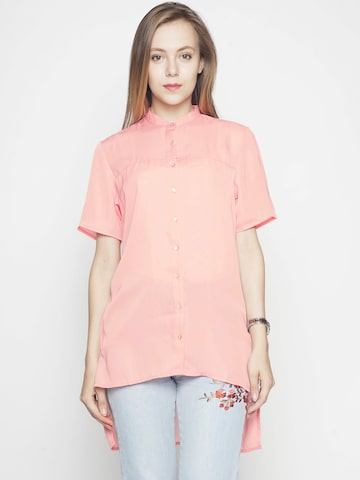 Voi Jeans Women Pink Regular Fit Solid Casual Shirt Voi Jeans Shirts at myntra