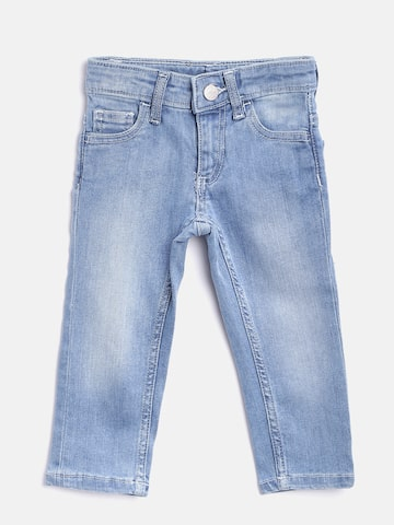 United Colors of Benetton Boys Blue Slim Fit Stretchable Jeans United Colors of Benetton Jeans at myntra