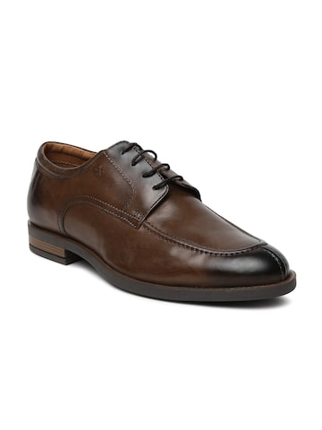 Arrow Men Brown Clinton Leather Derby Shoes Arrow Formal Shoes at myntra