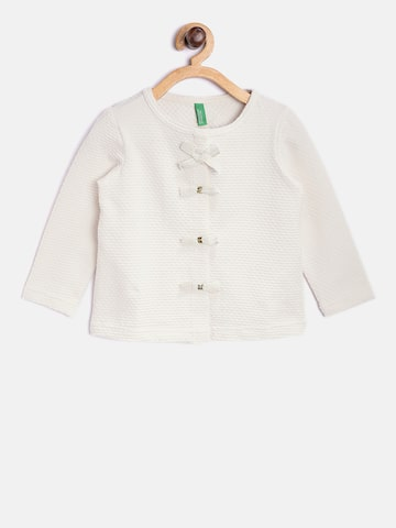 United Colors of Benetton Girls Off-White Self-Design Top United Colors of Benetton Tops at myntra