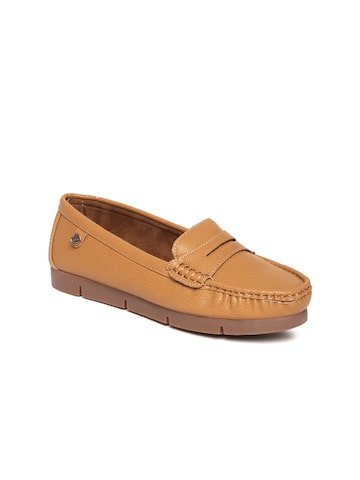 Carlton London Women Tan Brown Loafers Carlton London Casual Shoes at myntra