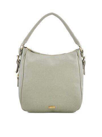 yelloe Grey Textured Handheld Bag yelloe Handbags at myntra