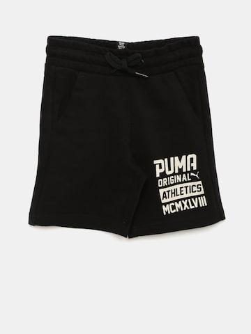 Puma Boys Black Printed Regular Fit Regular Shorts Puma Shorts at myntra
