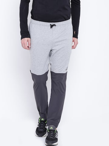 Adidas Grey Extreme WO Colourblocked Joggers Adidas Track Pants at myntra