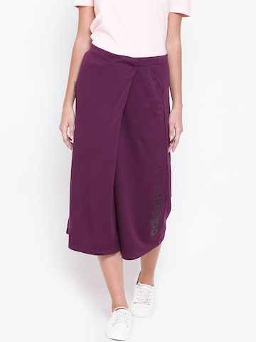 Adidas NEO Purple CE CONT Cropped Track Pants Adidas NEO Track Pants at myntra
