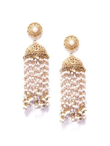 Fida Gold-Toned Dome Shaped Jhumkas Fida Earrings at myntra