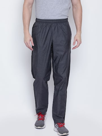 Adidas Grey ESS 3S WVN Self-Design Track Pants Adidas Track Pants at myntra