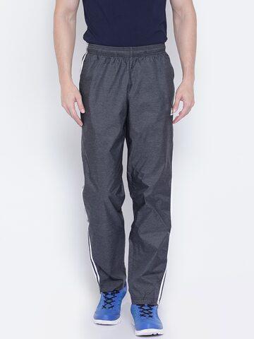 Adidas Charcoal Grey ESS 3S WVN Track Pants Adidas Track Pants at myntra