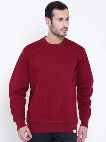 Adidas Originals Men Maroon X BY O CREW Solid Sweatshirt Adidas Originals Sweatshirts at myntra