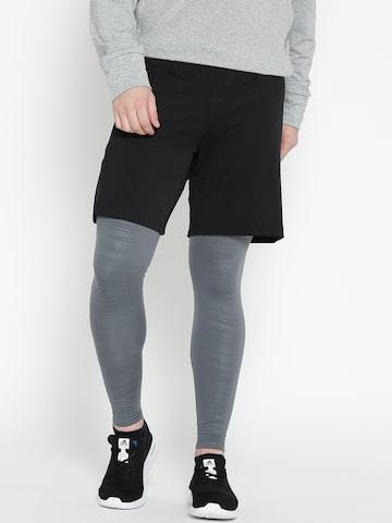 Adidas Grey TF LT CW Printed Tights Adidas Tights at myntra